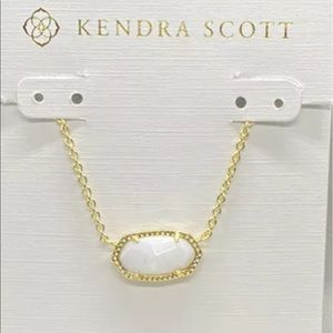 Kendra Scott Elisa Gold and Ivory Pearl Necklace